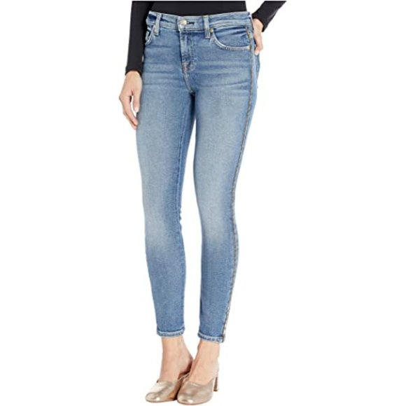 7 For All Mankind Luxe Vintage High Waist Ankle Skinny in Beau Blue